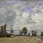 żony rybaków nad morzem - eugene boudin ; obraz - reprodukcja