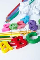 Obraz plastikowe litery alfabetu