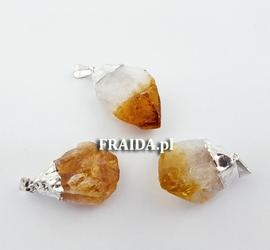 Cytryn surowy kryształ - wisior