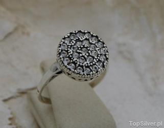 Wiedeń - srebrny pierścionek z kryształami