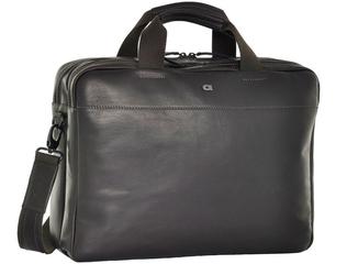 Skórzana torba na laptopa daag albedo 1 ciemnobrązowa - ciemny brązowy