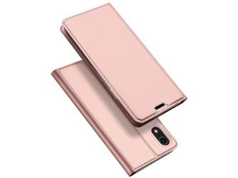 Etui dux ducis skin do apple iphone xr różowe + szkło alogy - różowy