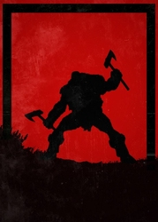 For honor - berserker - plakat wymiar do wyboru: 42x59,4 cm