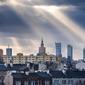 Warszawa objawienie panorama miasta - plakat premium wymiar do wyboru: 70x50 cm