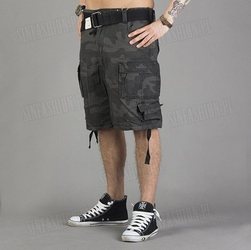 Spodnie surplus - division shorts black camo