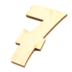 Drewniana cyfra 6 cm - 7 - 7