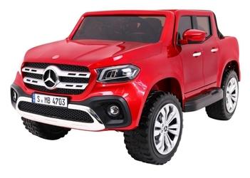 Mercedes x class czerwony lakier mp4 duży samochód na akumulator - super