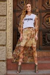 Długa spódnica tiulowa - zielona