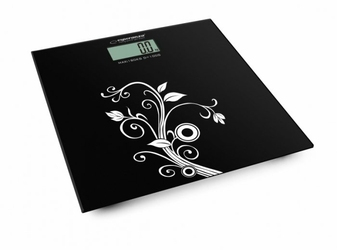 Esperanza Szklana waga łazienkowa ultra cienka z LCD