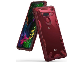 Etui ringke fusion x do lg g8 thinq ruby red - czerwony