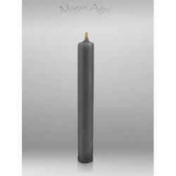 Świeca z wosku 9x1,2cm - srebrna 5 sztuk