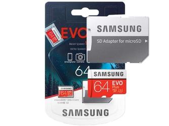 Karta pamięci samsung evo plus 64gb micro sdxc + adapter wersja 2020