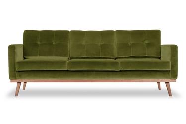 Sofa fern z funkcją spania welurowa 3-osobowa  welur bawełna 100 oliwkowy