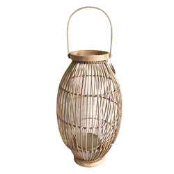 Lampion  latarenka rattanowa altom design 26 x 45 cm