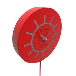 Zegar ścienny z wahadłem philip calleadesign pomarańczowy 11-007-63