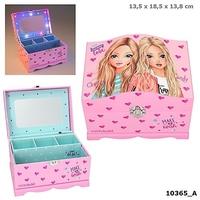 Szkatułka pudełko na biżuterię top model podświetlane lusterko 10365