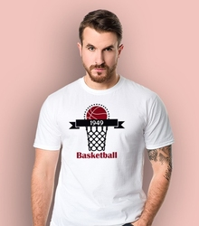 Basketrball t-shirt męski biały xxl