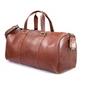 Skórzana torba podróżna na ramię brodrene r20 koniak smooth leather