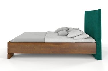 Łóżko drewniane bukowe visby santap z tapicerowanym zagłówkiem
