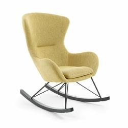 Fotel bujany Valsa musztardowy - musztardowy