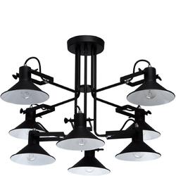 Czarna lampa na 8 żarówek - regulowane klosze MW-LIGHT Loft 691011008