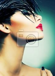 Obraz portret art fashion pięknej dziewczyny. vogue style woman