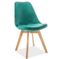 Krzesło welurowe magnus zielone
