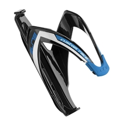 Koszyk bidonu elite custom race czarny niebieska grafika