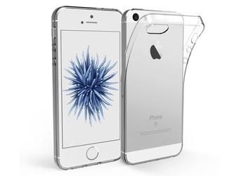 Etui silikonowe crystal 0.3mm guma do apple iphone 5 + szkło