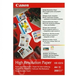 Canon High Resolution Paper, foto papier, wodoodporny, biały, A4, 106 gm2, 200 szt., HR-101 A4, atrament