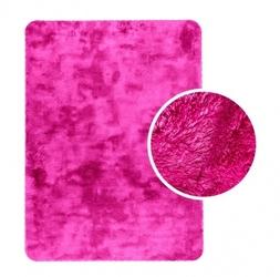 Shaggy dywanik łazienkowy pluszowy wysoki 60x90 neonowy róż