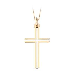 Staviori krzyżyk klasyczny. żółte złoto 0,585 z rodem. wysokość 32 mm.