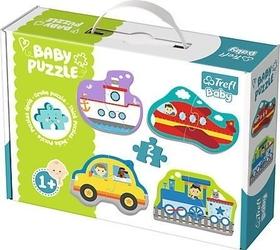 Trefl baby classic 36075 grube puzzle pojazdy