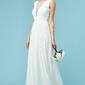 Suknia ślubna z haftami na tiulu i cekinami, goddiva 589