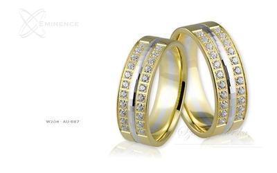 Obrączki ślubne - wzór au-687