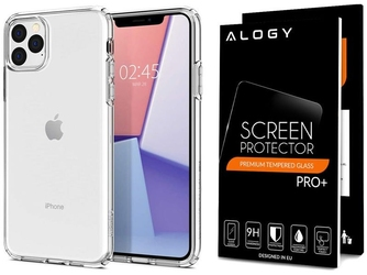 Etui spigen liquid crystal do apple iphone 11 pro crystal clear + szkło