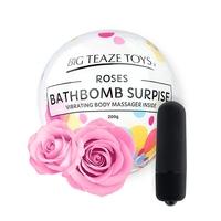 Bomba kąpielowa z wibratorem - big teaze toys bath bomb surprise with vibrating body massager róża