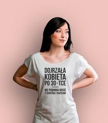 Tshirt po 30 t-shirt damski biały xxl