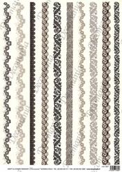 Papier ryżowy decomania 35x50 cm dekory