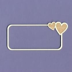 Ramka z sercem - prostokątna 9x4,2 cm - 02