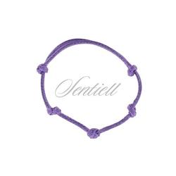 Bransoletka baza do zawieszki kolor fioletowy - fioletowy woskowany połysk