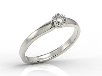 Pierścionek zaręczynowy z białego złota z brylantem 0,20 ct wzór bp-2120b