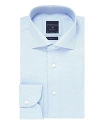 Błękitna koszula profuomo slim fit w kolorowe piksele 42