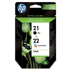 HP oryginalny ink SD367AE, No.21 + No.22, blackcolor, 190165s, 2szt, HP 2-Pack, C9351AE + C9352AE