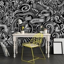 Muzyczna abstrakcja - tapeta designerska , rodzaj - tapeta flizelinowa laminowana