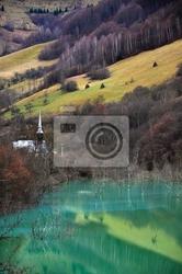 Fototapeta zanieczyszczone wody jeziora