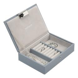 Pudełko na biżuterię z pokrywką mini Stackers szaroniebieskie