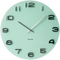 Zegar ścienny Vintage Round Karlsson zielony KA5489PG