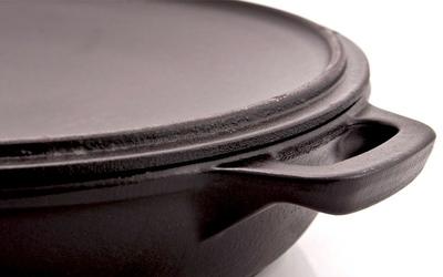 Garnek żeliwny emaliowany płytki chasseur 2,5l 30cm czarny 3730-01