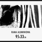 Czarna rama aluminiowa 33x95 cm
